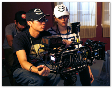 NYFA BFA film students shooting with a video camera