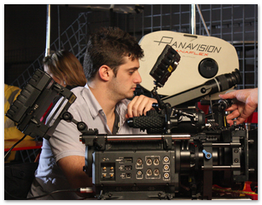 NYFA BFA film student learning to operate a digital camera