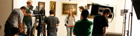 NYFA Producing Conservatory students oversee a museum shoot