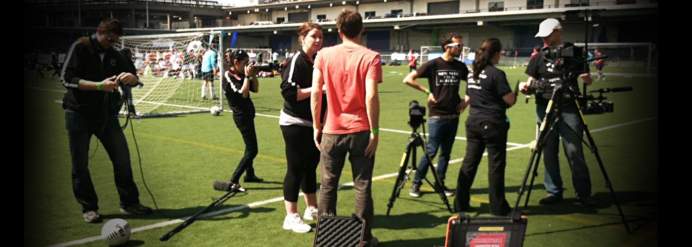 documentary school students soccer pitch