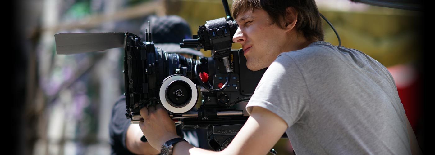 NYFA film school student with a Red One digital camera