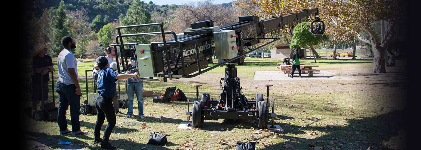 NYFA Students Using a Crane camera on set