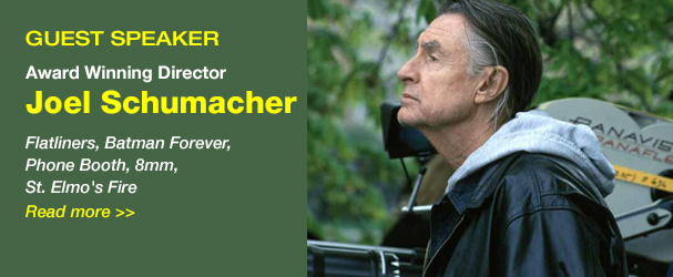 NYFA Guest Speaker Award Winning Director Joel Schumacher