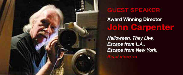 NYFA Guest Speaker Award Winning Director John Carpenter