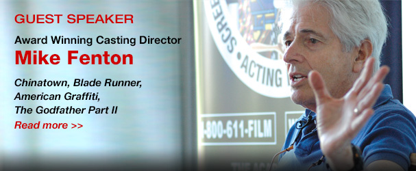 NYFA Guest Speaker Award Winning Casting Director Mike Fenton