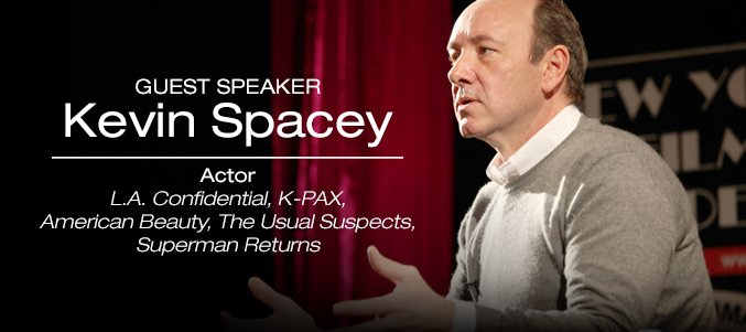 Actor Kevin Spacey NYFA guest speaker