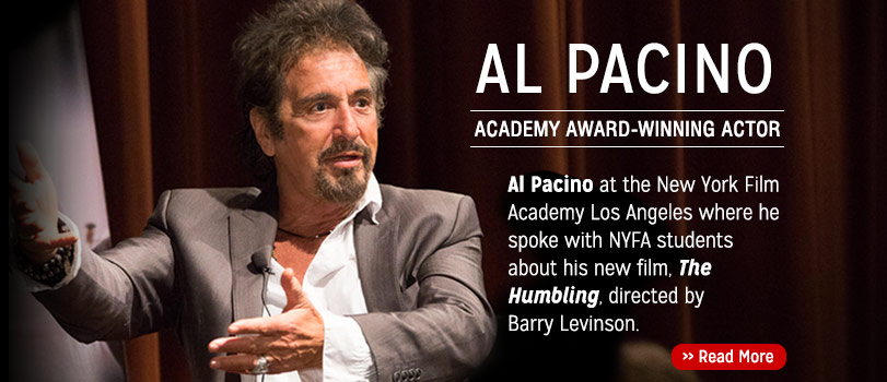 Al Pacino speaking at the New York Film Academy Los Angeles