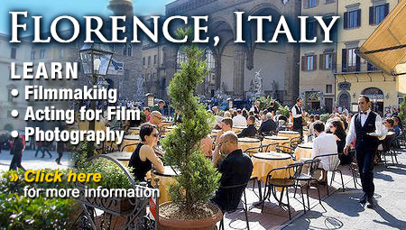 Learn about Filmmaking, Acting and Photography in Florence, Italy