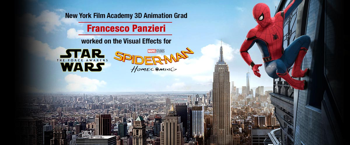 NYFA 3D Animation Conservatory Graduate Francesco Panzieri is Digital Compositor on 'Spider-Man: Homecoming'