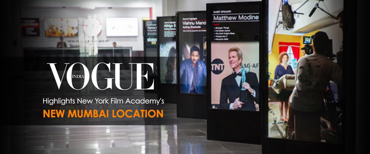 Vogue India Highlights New York Film Academy's New Mumbai Location