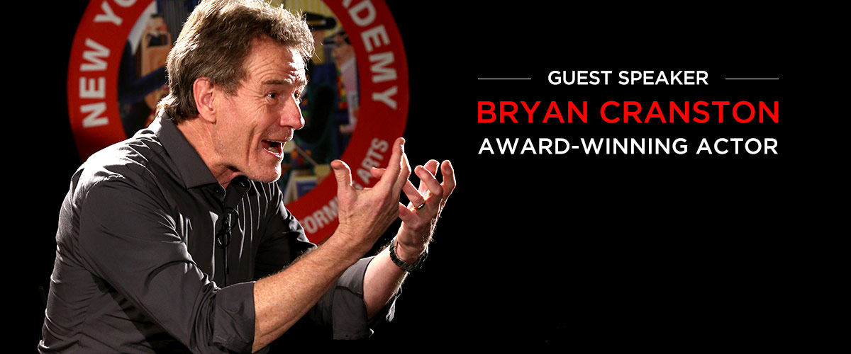 Bryan Cranston award-winning actor is a NYFA guest speaker