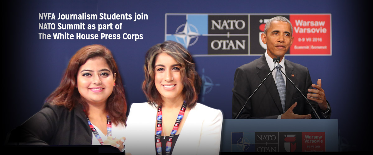 NYFA Broadcast Journalism Student & Alumna join NATO Summit as part of The White House Press Corps