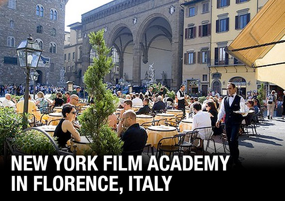 Film School in Florence, Italy - Students Shooting on Vespa