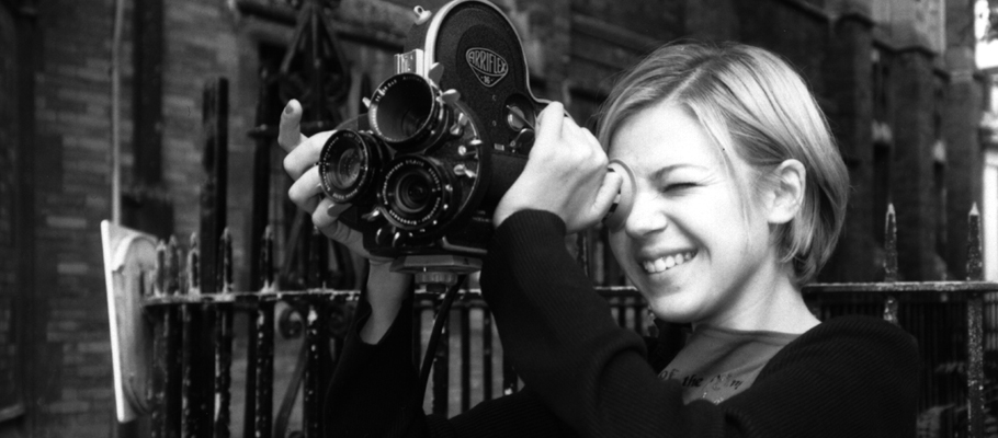 A student films with an Arriflex camera