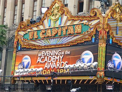 The El Capitan theatre in Los Angeles