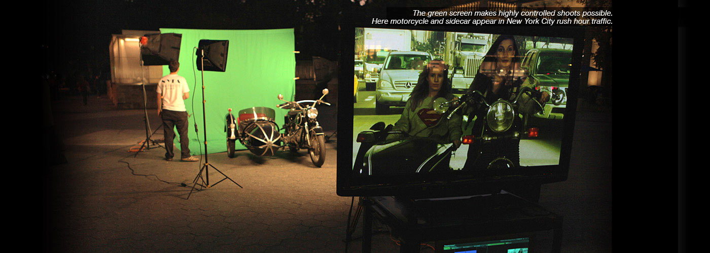 NYFA students shoot with green screen in New York City