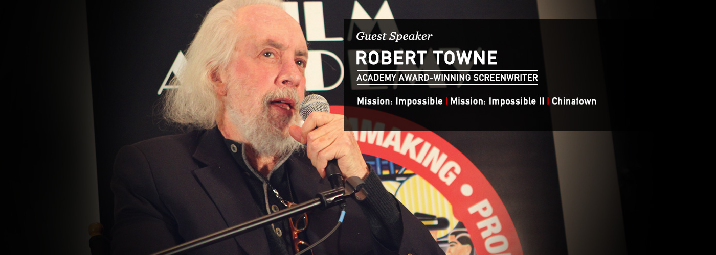 NYFA guest speaker screenwriter Robert Towne