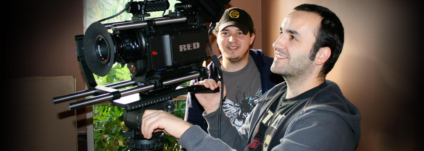NYFA film school students filming with a Red One digital camera