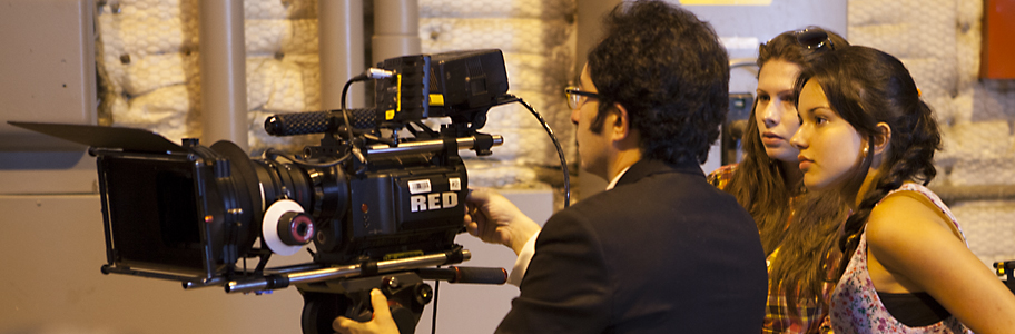 Digital Editing school students learn to use the Red Epic