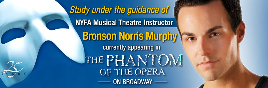 Study under NYFA musical theatre instructor Bronson Norris Murphy