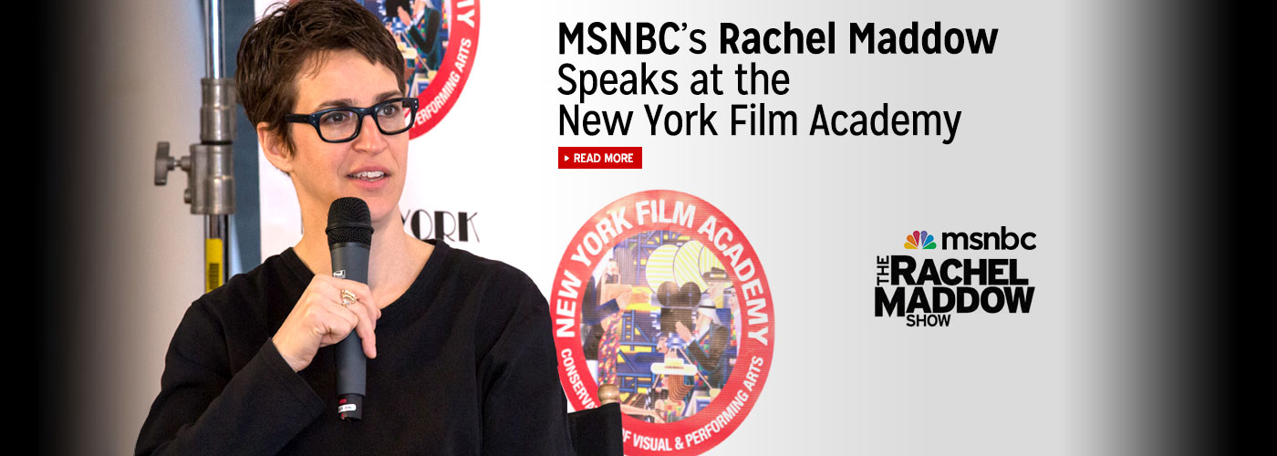MSNBC's Rachel Maddow speaks at the New York Film Academy