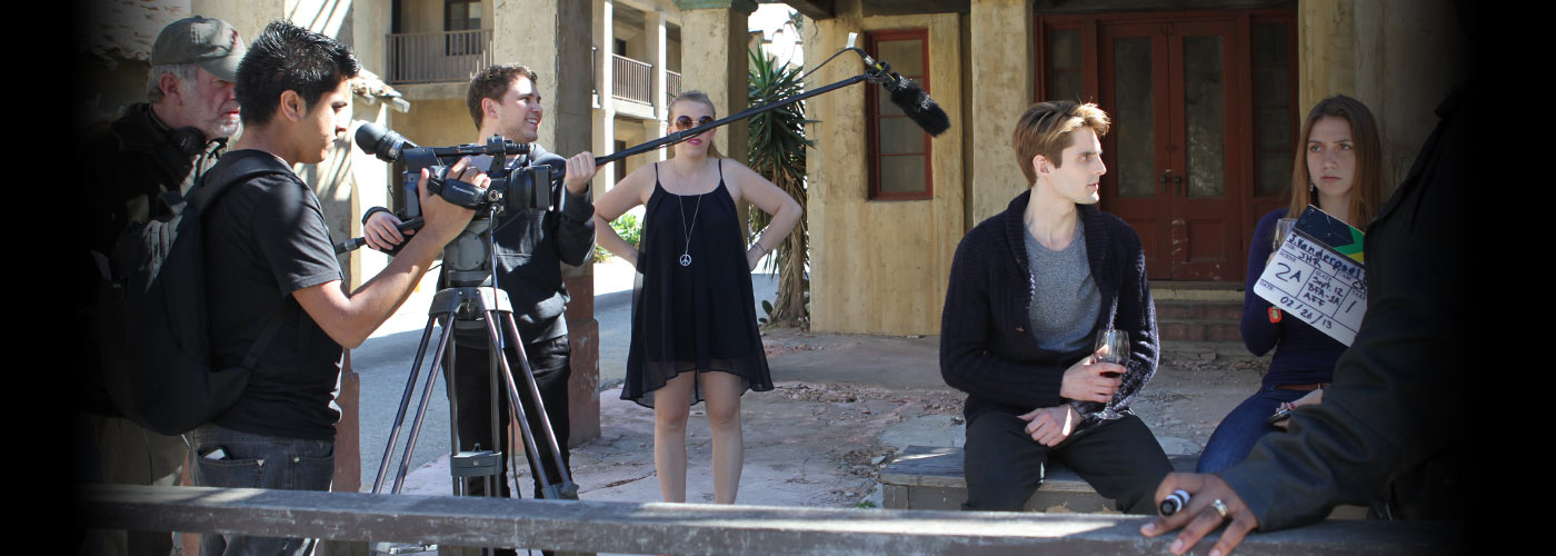 NYFA MFA acting students preparing for a scene