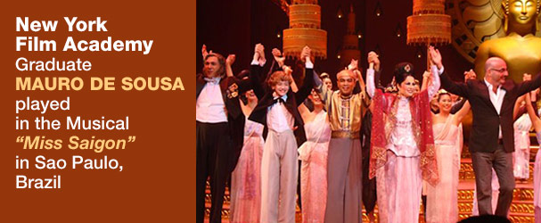 NYFA Graduate Mauro De Sousa Played in the Musical 'Miss Saigon' in Sao Paulo, Brazil