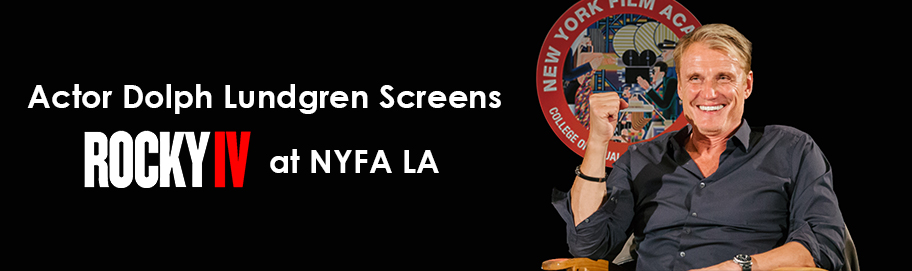 Actor Dolph Lundgren Screens Rocky IV at NYFA LA