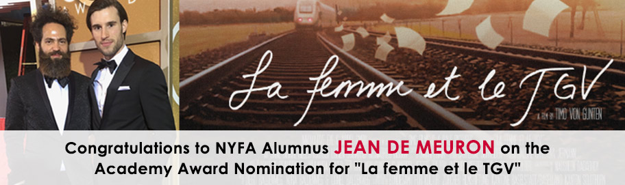 Congratulations to NYFA Alumnus Jean de Meuron on the Academy Award Nomination for 'La femme et le TGV'