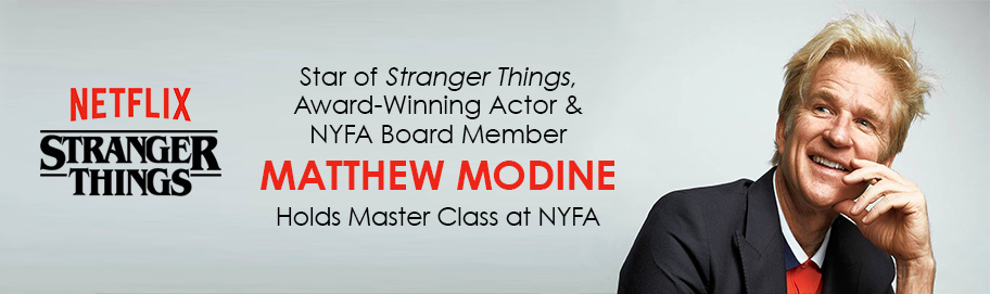 Award-Winning Actor and NYFA Board Member Matthew Modine Holds Master Class for Acting for Film Students