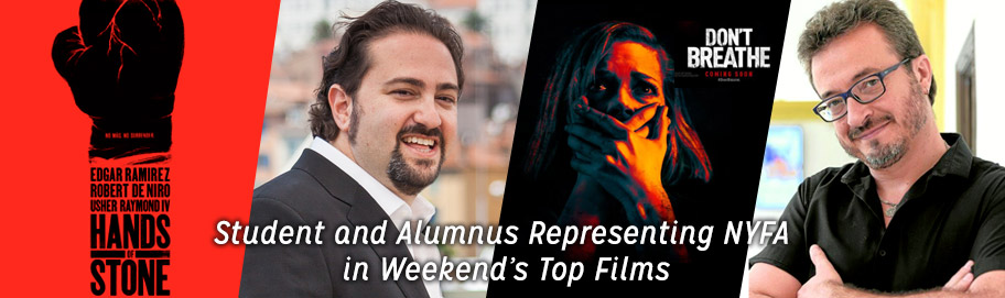 Student and Alumnus Representing NYFA in Weekend's Top Films
