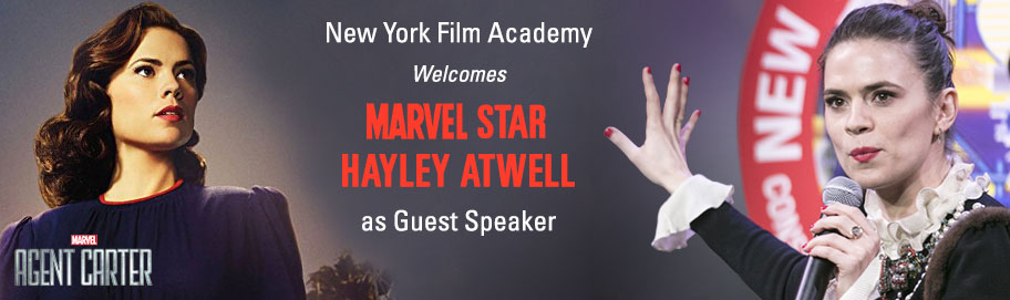 New York Film Academy Welcomes Marvel Star Hayley Atwell as Guest Speaker  in New York City