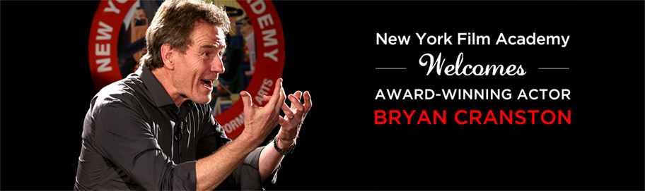 New York Film Academy welcomes award-winning actor Bryan Cranston news banner