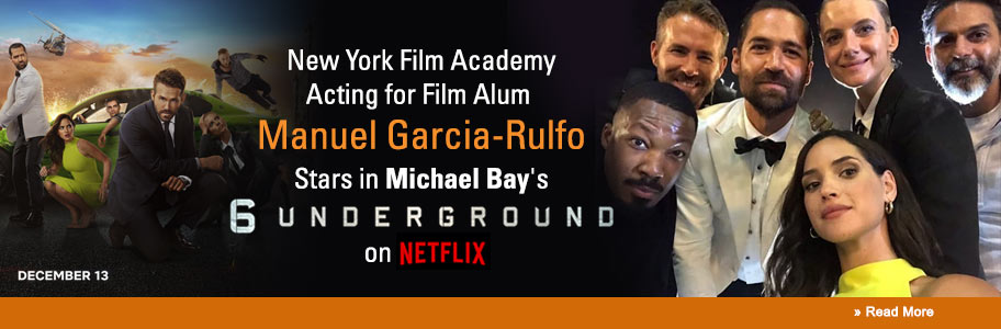 NYFA Acting for Film Alum Manuel Garcia-Rulfo Stars in Michael Bay's 6 Underground on Netflix