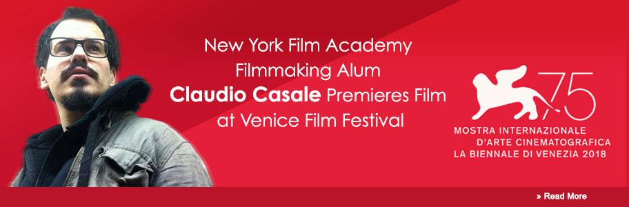 New York Film Academy (NYFA) Filmmaking Alum Claudio Casale Premieres Film at Venice Film Festival