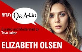 New York Film Academy (NYFA) Welcomes Emmy-Nominated Actress Elizabeth Olsen to NYFA's Q&A-List Series