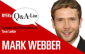 New York Film Academy (NYFA) Welcomes Actor And Director Mark Webber For 'The Q&A-list Series'