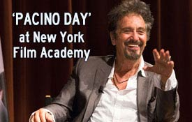 Pacino Day at New York Film Academy with Al Pacino