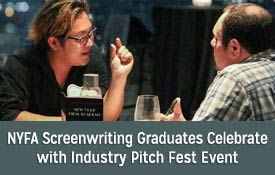 NYFA Screenwriting Graduates Celebrate with Industry Pitch Fest Event thumbnail