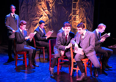 NYFA musical theatre students perform Spring Awakening on chairs