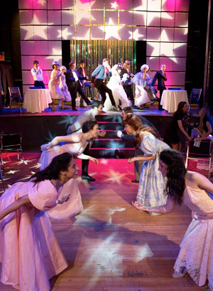 NYFA musical theatre students performing in The Wedding Singer