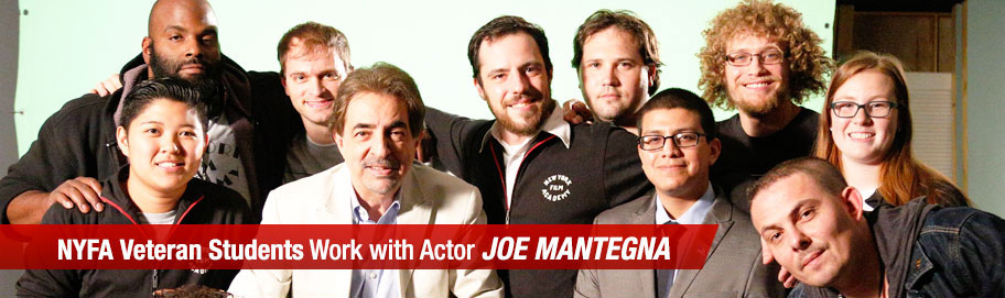 NYFA Veteran Students work with actor Joe Mantegna