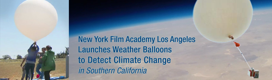 New York Film Academy Los Angeles launches weather balloons