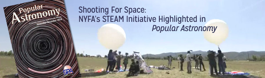 Shooting for Space: NYFA's Steam Initiative Highlighted in Popular Astronomy