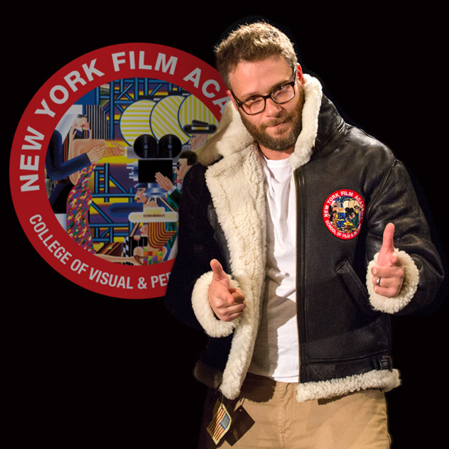 Thumbs up from Seth Rogen at NYFA