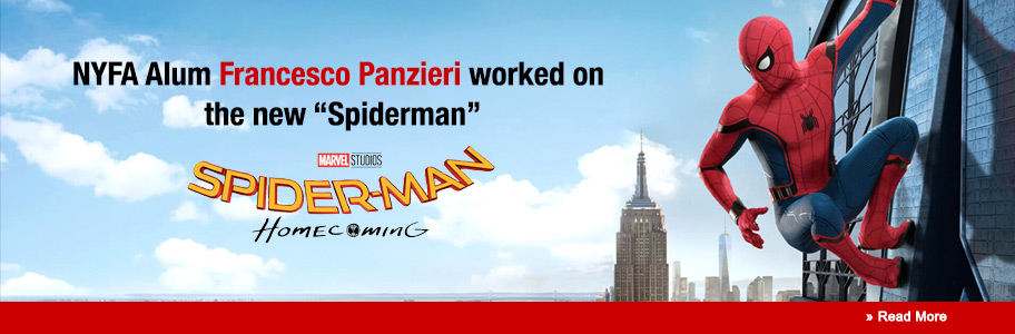 NYFA Alumnus Francesco Panzieri is Digital Compositor on 'Spider Man: Homecoming'