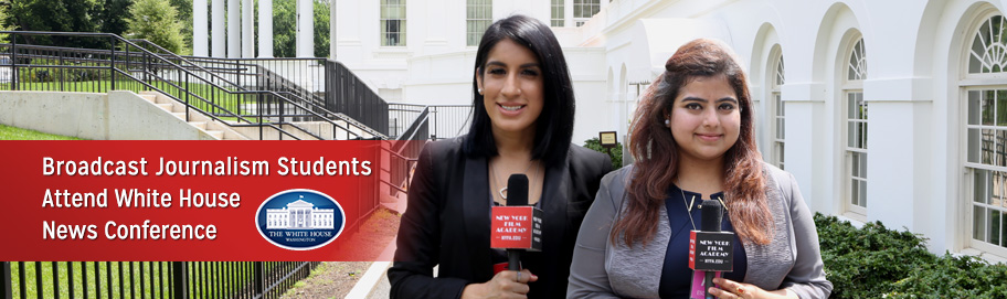 Broadcast Journalism Students Attend White House News Conference