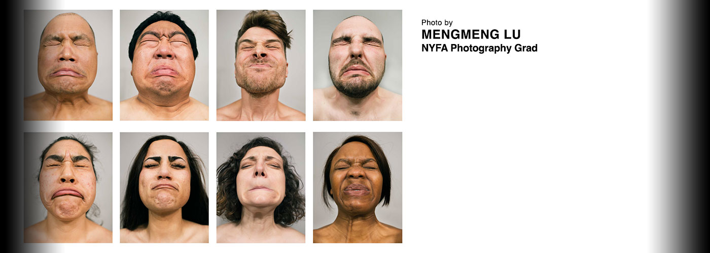 Headshots of grimacing faces by mengmeng lu