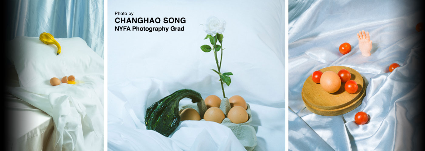 Artistic photos with vegetables and eggs by changhao song