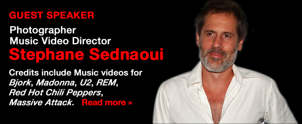 NYFA Guest Speaker Photographer/Music Video Director Stephane Sednaoui